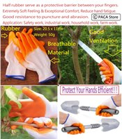 Wholesale A Pair Rubber Gardening Glove Wearproof Work Protection Gloves Application Safety work industrial work household work