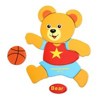 Wholesale Muti Style Kids Cute Cartoon Jigsaw Game New Colorful Wooden Puzzle Montessori Educational Toys With English Word For Children