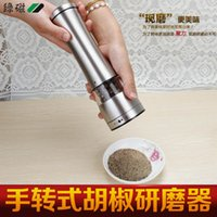 Wholesale New Practical Manual Salt Spice Sauce Grinder Stainless Steel Manual Salt and Pepper Mill Grinder for cooking kitchen