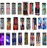 Wholesale 3d socks design kids women men hip hop socks d odd socks cotton skateboard socks printed socks