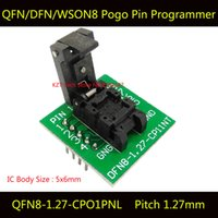 Wholesale QFN8 DFN8 WSON8 Programming Socket Pogo Pin IC Test Adapter QFN8 CPO1PNL Pitch mm Clamshell Size Burn in Socket