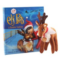 hard cover book - Elf Pets Reindeer On The Shelf Soft Dolls For Kids Christmas Gift Hard Cover Books A ReindeerTradition