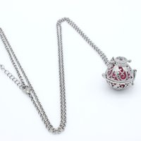 Wholesale Charms Silver Plant Leaf Hollow Cage Box Locket Fragrance Essential Oil Aromatherapy Diffuser Necklace Womens Fashion Jewelry