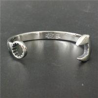 Wholesale Fashion Mens L Stainless Steel Silver Bike r BangleBracelet Polishing Letter Biker Bracelet