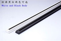 Wholesale 1m m Slide Tank Led Track Light Rail Background Wall Line Aluminum Slide Rail Connector White Or Black Optional