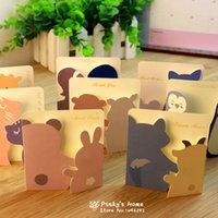 Wholesale pc With You Cozy Small Animals Greeting Cards Birthday Greeting Card New Year Cards with Envelops