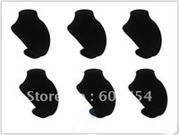 Wholesale 6 BLACK VELVET BUST NECKLACE PENDANT DISPLAY STAND Cheap Free Shiping