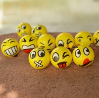 animal therapy - Emoji Faces Squeeze Stress Ball Hand Wrist Finger Exercise Stress Relief Therapy Assorted Styles New Christmas party gifts LC361