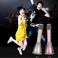 best singing microphones - Best quality K068 Wireless Karaoke Microphone Phone singing App bluetooth single speaker microphone can print your logo
