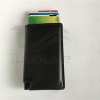 Wholesale Hot sale in spain men genuine leather wallet mini wallet vintage brown black fashion wallet