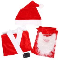 Wholesale Christmas Costumes For Teenage Boys - 3-5 Years Kids Set Of 5 in One Suit Costume Christmas Clothing For boys Santa Claus Suit Pleuche Cosplay clothes Product code:95-1151