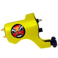 beijing opera masks - Tattoo Trends Black Bishop Style Rotary Tattoo Machine Gun Tattoo Grip Yellow Liner Shader Beijing Opera Facial Masks