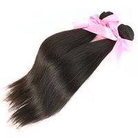 Wholesale 6A grade virgin human hair extension Brazilian Peruvian Indian Malaysian virgin straight Hair weaving extensions bundles mix length hair