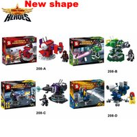 Wholesale 4 Building Blocks Super Heroes Avengers Minifigures Mrgneto Wonder Woman Batman War Car Bricks Mini Figures Toys SY208