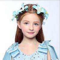 Wholesale 2016 Wedding Bridal Girl Head Flower Crown Wreath Aesthetic Bride wreath Rattan Garland Headband Hair Accessories