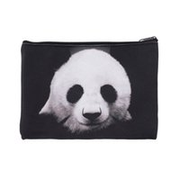 Cheap Organizer 3D Panda Giraffe Animal Simple Make Up Bags Pencil Cases Fashion Cosmetic Cases Women Travel Storage Pouch