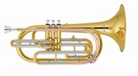 Wholesale Marching Trombone in Bb Tone with Hard case Factory Supply OEM Brass Wind musical instruments