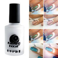 Wholesale Fashion ml White Peel Off Coat Liquid Tape Cream Nail Art Polish Separating Palisade Manicure