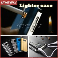 abs usb cooling - Lighter Case for iPhone Samsung New Cool Design Plastic Mobile Phone Covers with USB Electronic Cigarette