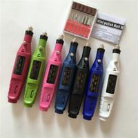 Wholesale AC V Mini Electric Rotary Detail Carver Pen Shape Manicure Pedicure Machine Nail Drill Nail Polish Tools