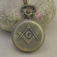 ancient masons - fashion quartz Masons Freemasonry pocket watch woman classic vine antique Pendant G fob watches ancient bronze