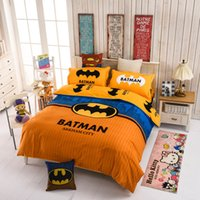 batman comforters - Batman cotton bedding sets reactive printing bed linen with duvet cover pillowcases super hero bed sheet set