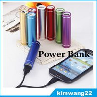 Cheap Cheap Power Bank Portable 2600mAh Cylinder PowerBank External Backup Battery Charger Emergency Power Pack Chargers for all Mobile Phones