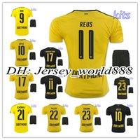 best kit homes - best quality Dortmund home yellow soccer jersey Kits AUBAMEYANG GOTZE MOR KAGAWA REUS SAHIN away black football shirt