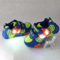 batman sneakers - Batman Led Kids Shoes Light Casual Sport Athletic Sneakers for Boys Breathable Net Fashion Toddler Children Luminous Shoes