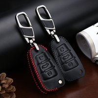 Wholesale Genuine leather mini car key bag sepcial designed for Audi any series with hand make switching
