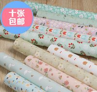 arrival digital books - 10sheets new arrivals pretty cute floral pattern creative wrapping paper handmade scrapbooking kit for books cover