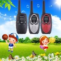 Wholesale Hot selling RT628 Black Walkie Talkie W CH UHF Two Way Radio for Children kids gift