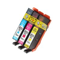 Cheap 3PK, Printer Cartridge for HP 655 655XL C M Y hp655 Deskjet Ink Advantage 3520 3525 4620 4625 4615 5525 6520 6525 e-All-in-One