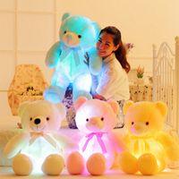 valentines teddy bear - New LED Teddy Bear Plush Toys Valentine Days Girls Gift Best Gift For Children children Dolls