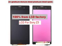 Wholesale On promotion For Sony Xperia Z3 LCD Screen Display With Touch Screen Digitizer assembly Black Factory directly A quality
