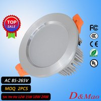 Cheap Led Spotlight 3W5W7W9W12W15W18W Led Down Lights Recessed Cabinet Wall Spot Down light Ceiling Lamp Cold White Warm White For Home Lighting