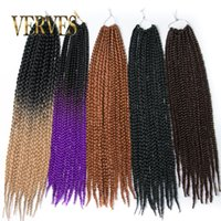Wholesale Box Braids Hair Crochet inch Crochet Hair Extensions g Synthetic Crochet Braid Senegalese Twist Braid Hair Jumbo Hairstyles