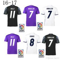 best soccer uniforms - Whosales Madrid Jersey Soccer Jerseys Real Cristiano Ronaldo Bale James Kroos Benzema Ramos ISCO Soccer uniform Best Thai