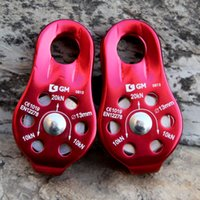 Wholesale 2pcs KN lbs Small Climbing Pulley Outdoor General Purpose Single Bearing Rope Pulley For Rock