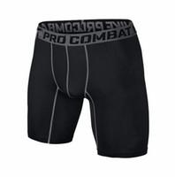 Wholesale S XXL shorts PRO Short Men Slim Fitted compression Active shorts Sweatpants Bodybuilding Combat Dry Leggings men short pants