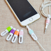 Wholesale Iphone Earphone Wire Protective sleeve Plastic Headphone Line Protector for Mobile Phone Earphones receiver A