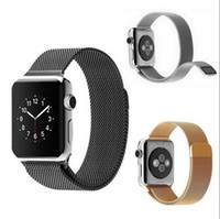 Wholesale Hot Milanese Loop Strap Stainless Steel Magnetic Band for Apple Watch mm mm watchbands