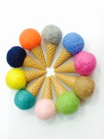 Wholesale Handmade DIY finished pure colour wool felt ice cream kinds of fashion jewelry for example pendants Christmas decorations cm