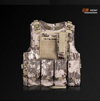 Wholesale Tactical Vests Outdoort Hunting Fishing Accessories Camouflage Vest Amphibious Multi Pockets Tactical Airsoft Molle Plate Carrier