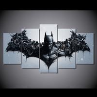al por mayor impresión de carteles de cine-5 El panel HD imprimió la lona del cuadro del cartel de la impresión de la decoración del sitio de la impresión de la lona de la pintura de Batman de los caracteres de la película Envío libre