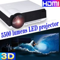 Wholesale Free inch screen HD LED LCD Projector Resolution Multimedia Theater Home Ciname Lumens projector