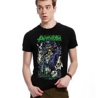 ask sales - Hot Sale D T Shirts Asking Alexandria Men O Neck Man t shirt Spider Man Mens Tops Short Sleeves Euro Size Tees