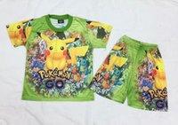 animal print denim shorts - poke Children Clothing Sets New Cartoon Printed Shorts Sleeve T shirt Shorts Summer Fashion Kids Outfit Cute Boys Girls Suits N014