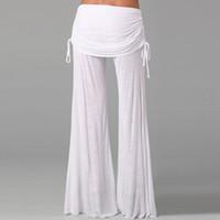 Wholesale Women Wide Leg Pants High Waist Flare Dance Pants Trousers For Women Pantalones Mujer Pantskirt Loose Long Harem Danling Pants