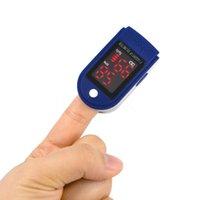 Wholesale Digital Finger Oximeter LED Display Fingertip pulse oximeter Spo2 PR monitor Blood Oxygen Saturation heart rate meter Blue
